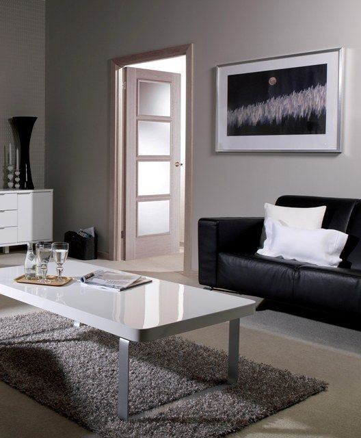 Vancouver Light Grey Glazed Door Modern Doors