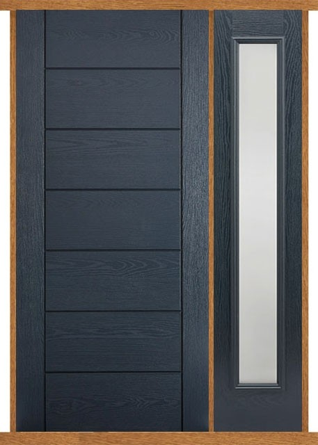 Modica Grey Composite Side Panel Door Set Modern Doors