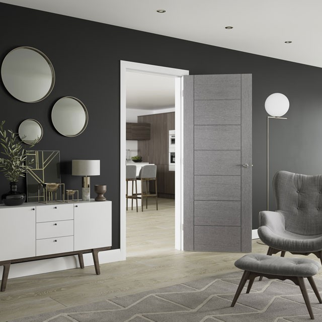 Palermo Light Grey Internal Door Modern Doors