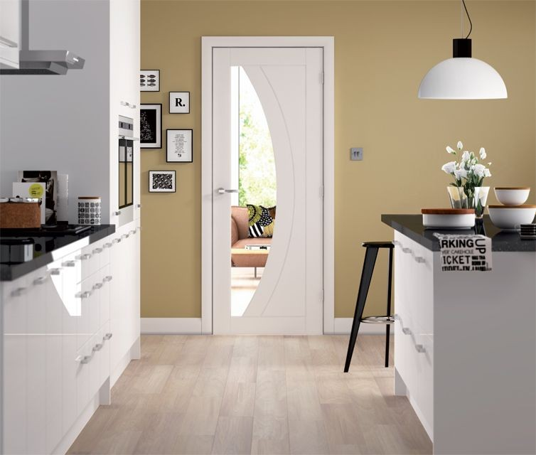 Salerno White Glazed Door Modern Doors