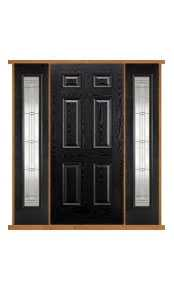Colonial Black Composite Double Side Panel Door Set thumbnail
