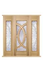 Majestic Oak External Double Side Panel Door Set thumbnail