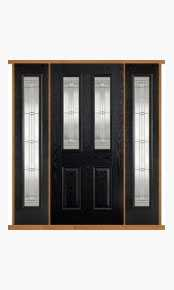 Malton Black Composite Double Side Panel Door Set thumbnail