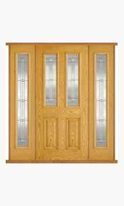 Malton Oak Composite Double Side Panel Door Set thumbnail