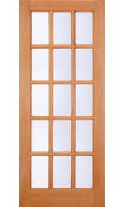 SA77 Clear Glazed Hardwood External Door
