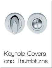 Keyhole covers and thumbturns
