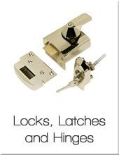 Locks, latches and hinges